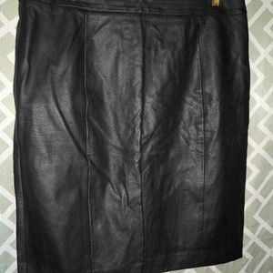 NWOT Black Faux Leather Vince Camuto Pencil Skirt